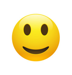 Emoji yellow smiley face vector