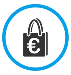 Euro Shopping Bag Rounded Icon vector image