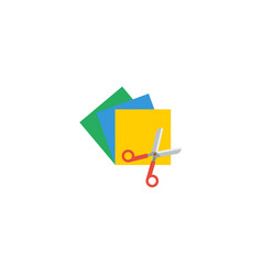 flat icon colorful papers element vector image