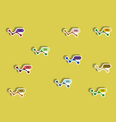 flat icons set of progress statistics concept in vector image