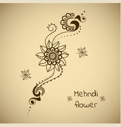 floral ornament in indian style vector image
