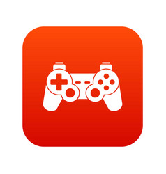 Game controller icon digital red vector