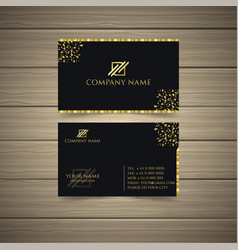 gold business card vector image
