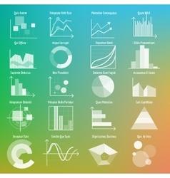 Graphs and charts vector