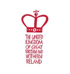 hand drawn logo for united kingdom travel vector image