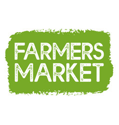 Hand sketched farmers market quote lettering vector