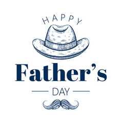 happy father s day card cute poster with vector image