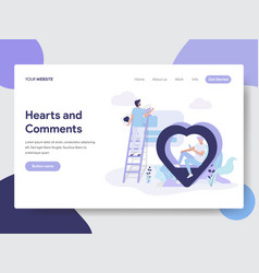 hearts and comment vector image