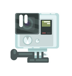 High definition photo video camera pro action vector