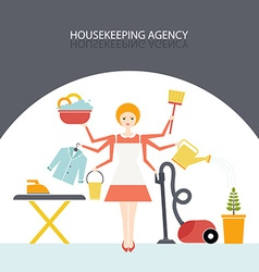 Housekeeping Agency vector image