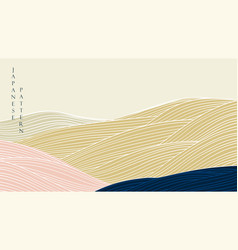 japanese background with mountain forest vector image