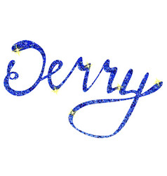 Jerry name lettering tinsels vector