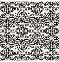 Lacing geometric ornament in art deco style vector