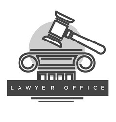 lawyer office poster with headline title vector image