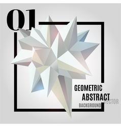 Light abstract geometric polygonal shape vector