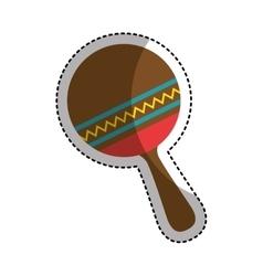 Maracas instrument isolated icon vector