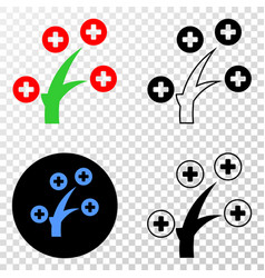 Medical tree eps icon with contour version vector