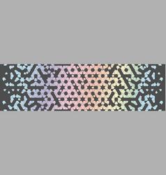 Modern holographic geometric arabic pattern vector