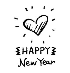 New year heart image vector