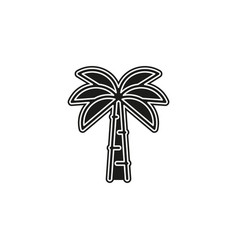 palm tree - travel icon - plant nature leaf vector image