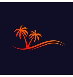 Palms background vector image