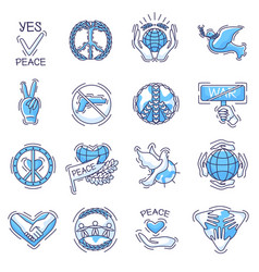 peace peaceful symbol of love and vector image