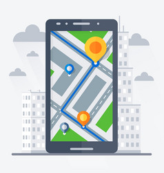 phone with mobile gps navigation vector image