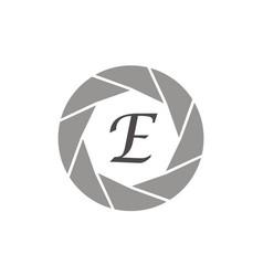 Photography service letter e vector