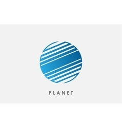 Planet logo deign Line planet Creative cosmic vector image