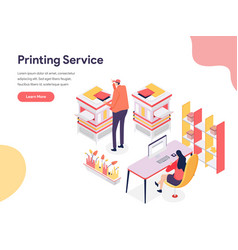 printing service concept isometric design vector image