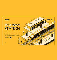 railway transport company website template vector image