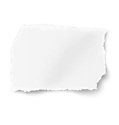 rectangular square ragged paper scrap vector image
