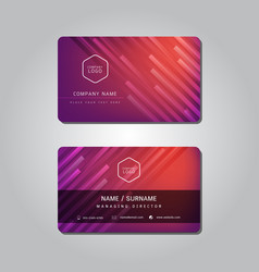 red modern abstract business name card design vector image