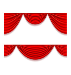 Red theatrical curtain vector