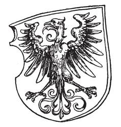 Renaissance heraldic eagle was designed by vector