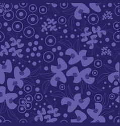 retro flowers-monochromatic flowers seamless vector image
