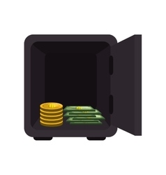 safe money box icon vector image