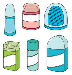 set of deodorant vector image