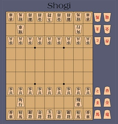 Shogi japanese chess vector