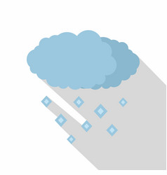 snow cloud icon flat style vector image