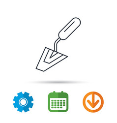 spatula icon finishing repair tool sign vector image