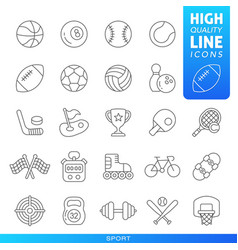 sports and games high quality trendy line icons vector image