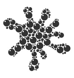 Spot mosaic of sphere icons vector
