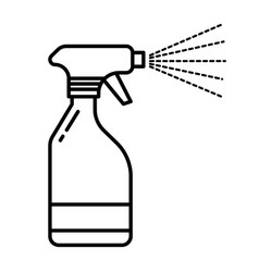 Spray bottle with water mist spraying from nozzle vector
