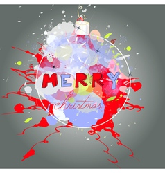 stylized christmas card vector image