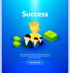 success poster of isometric color design vector image