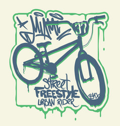 t-shirt graphics extreme bike street style design vector image
