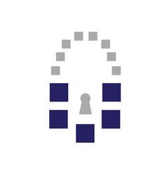 tech lock vector image