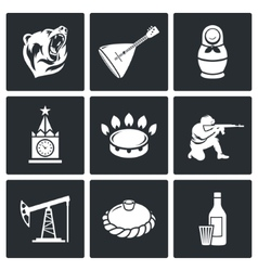 This is Russia Icons Set vector
