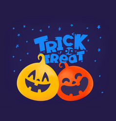 trick or treat concept halloween greeting card vector image